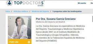 articulo dra. Garcia en Topdoctors
